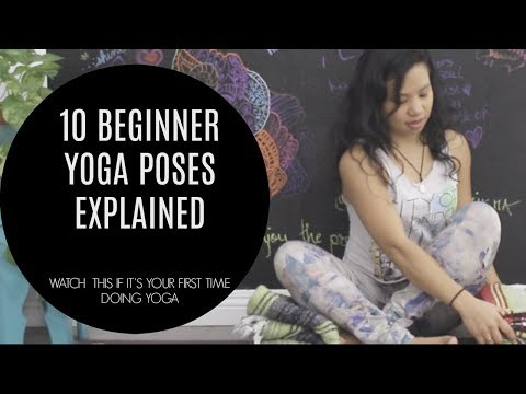 10 BEGINNER YOGA POSES EXPLAINED (watch this if you've never done yoga before)