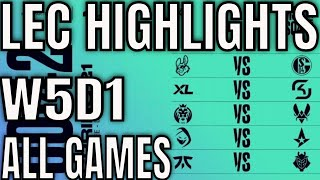 LEC Highlights ALL GAMES W5D1