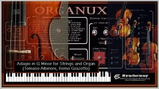 Adagio in G Minor for Strings and Organ (Syntheway Strings and Organux Virtual Organ VST) Win Mac
