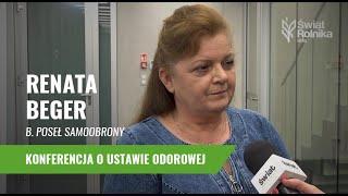 Renata Beger: Ustawę odorową projektował człowiek, który nie ma nic wspólnego z rolnictwem!