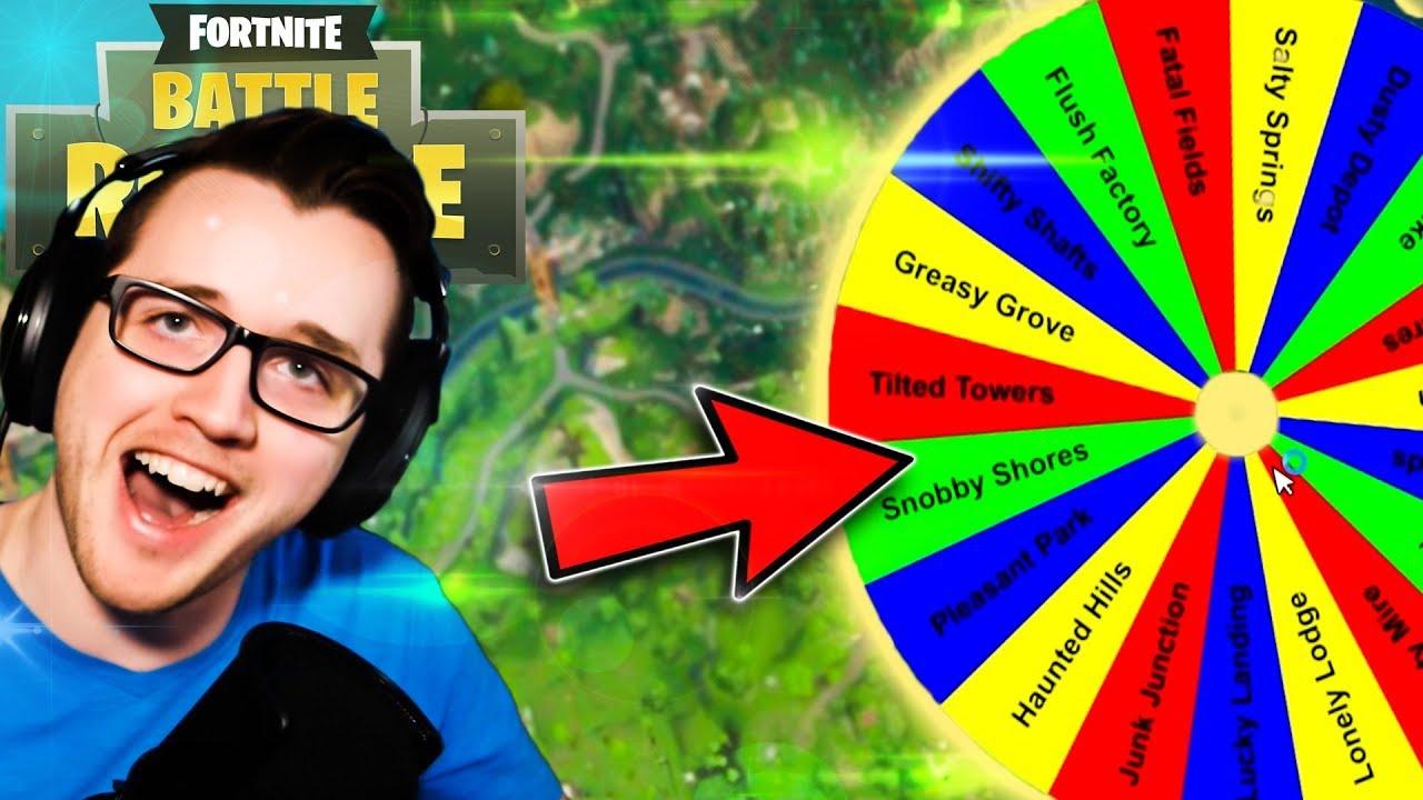 WHERE TO DROP IN FORTNITE? | Random Drop Wheel | Fortnite PC Solo Gameplay