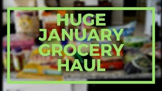 huge january costco and grocery haul with meal plan