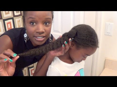 How to maintain little girls natural hair | Butterfly