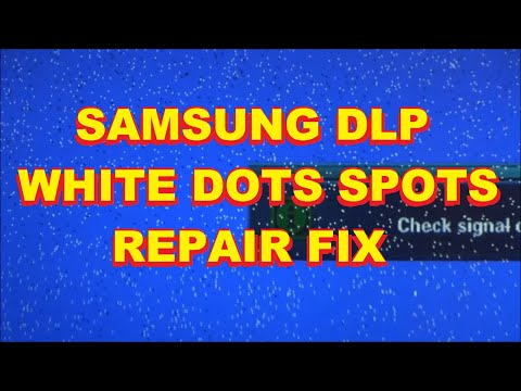 Samsung DLP White Spot Dot Repair