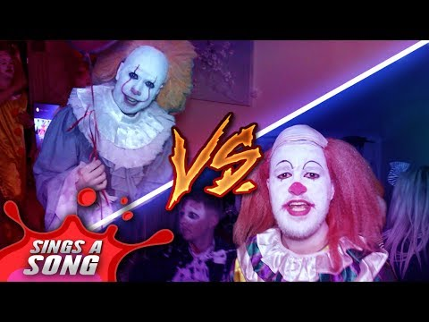 Old Pennywise Vs New Pennywise In Real Life (Rap Battle at Halloween Party)