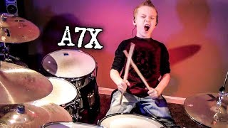 """""""Bat Country, A7X"""" Avery Molek, 8 year old Drummer"""