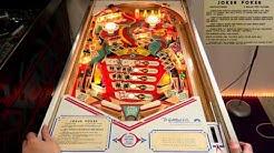 Joker Poker (Gottlieb, 1978) Flipper Pinball