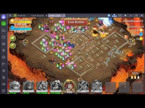 Castle Clash F2P Insane Dungeon 6-7