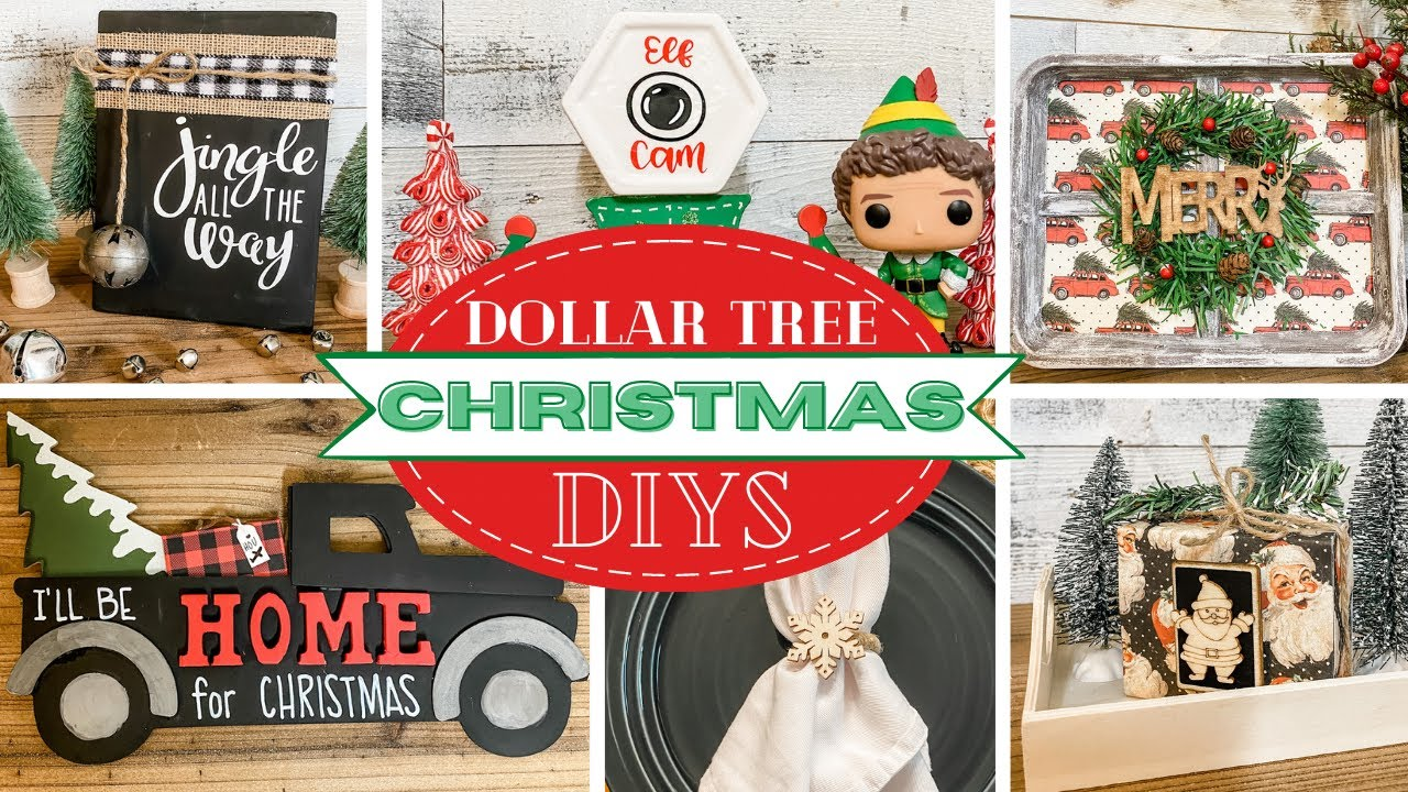 🎄7 Christmas DOLLAR TREE DIYS 2020🎄 DT Mystery Box Challenge