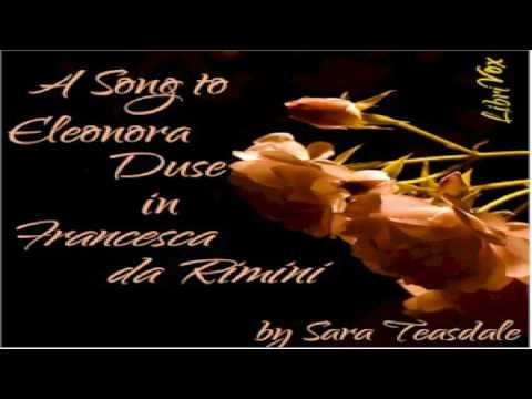 "Song To Eleonora Duse In ""Francesca da Rimini "" 