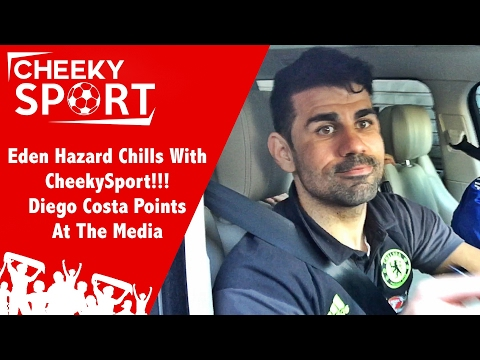 Eden Hazard Chills with CheekySport & Diego Costa Points At The Media | Chelsea 3-1 Arsenal