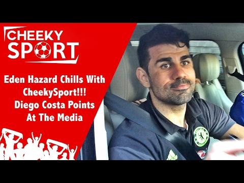 Eden Hazard Chills with CheekySport & Diego Costa Points At The Media | Chelsea 3-1 Arsenal