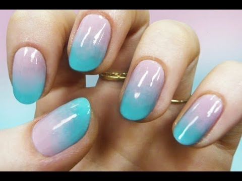 Tutorial Manicure Unghie Gradient Youtube