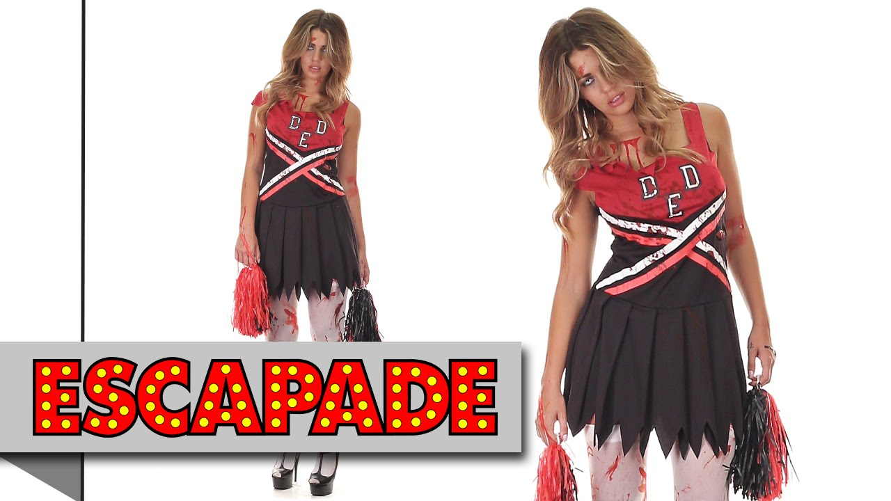 Zombie Cheerleader Halloween Costume - Halloween Fancy Dress Costume Ideas - YouTube  sc 1 st  YouTube & Zombie Cheerleader Halloween Costume - Halloween Fancy Dress Costume ...