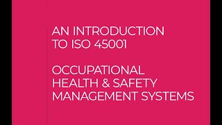 Alcumus ISOQAR - An introduction to ISO 45001