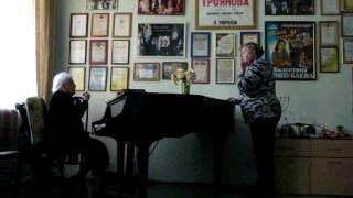 Урок вокала проф. Гертруды Трояновой. Контральто. Занятие 2е.
