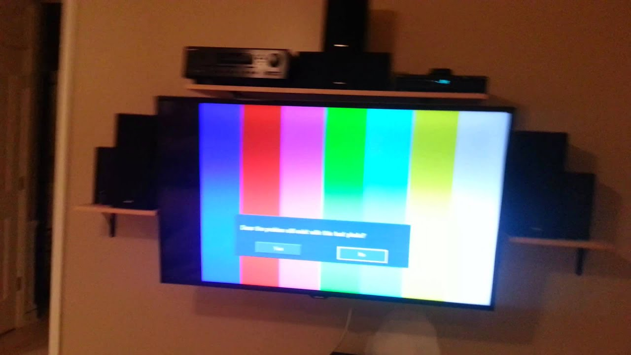 samsung tv top half dim on test screen youtube. Black Bedroom Furniture Sets. Home Design Ideas