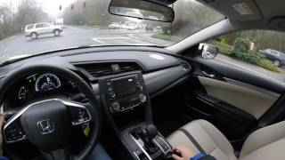 New 2017 Honda Civic Model POV test drive