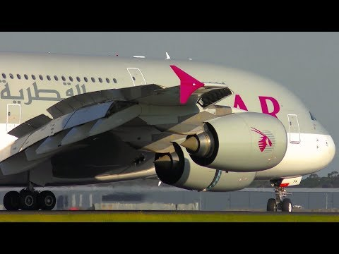 INCREDIBLE CLOSE UP Airbus A380 Takeoff & Landing | Qatar Airways | Melbourne Airport Plane Spotting