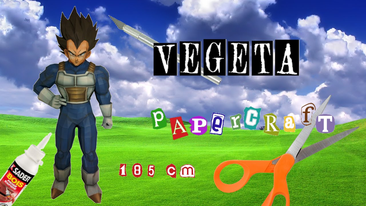 Papercraft VEGETA (Dragon Ball) Papercraft Stop Motion
