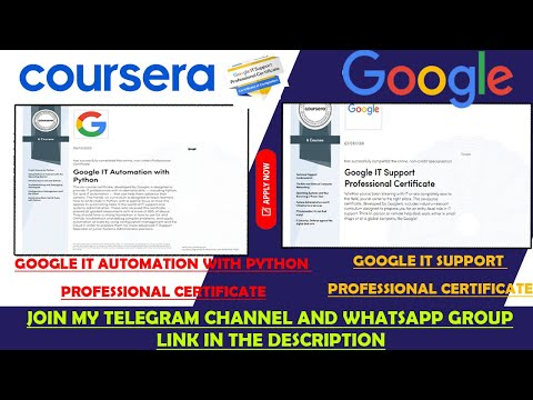 Google IT Automation with Python |  IT Support Professional Certificate | Coursera Free Courses