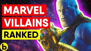 31 Marvel Villains Ranked From Worst To Best