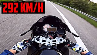 BMW S1000RR  Testride on German Autobahn | RAW