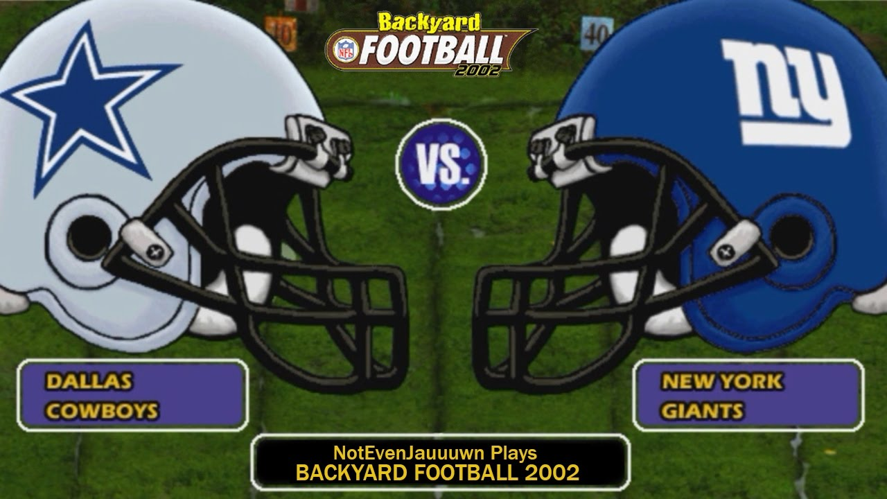 game 1 of season 2 on backyard football 2002 dallas cowboys vs new