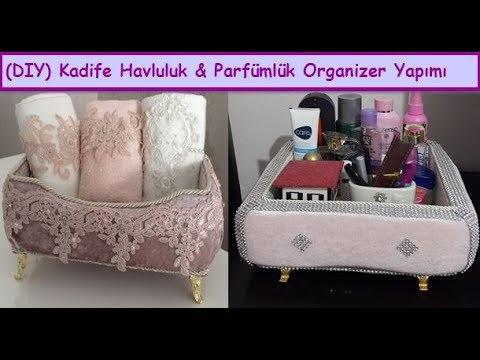Organizer diy | Kadife Kutu Kaplama Parfümlü&Havluluk Yapımı,Süsleme,Nasıl Yapılır| How To Decor Box