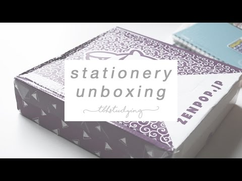 zenpop stationery unboxing