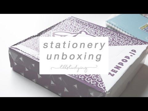 zenpop stationery unboxing