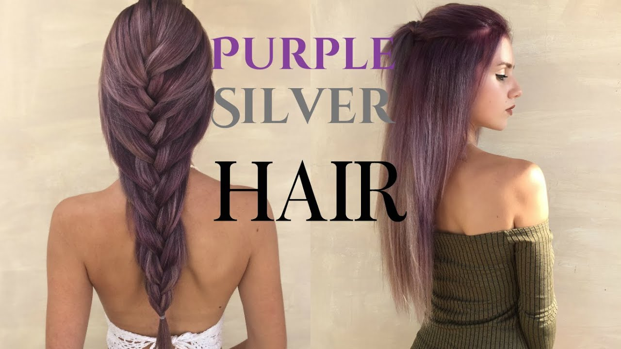 How To Purple Silver Metallic Hair Stella Youtube