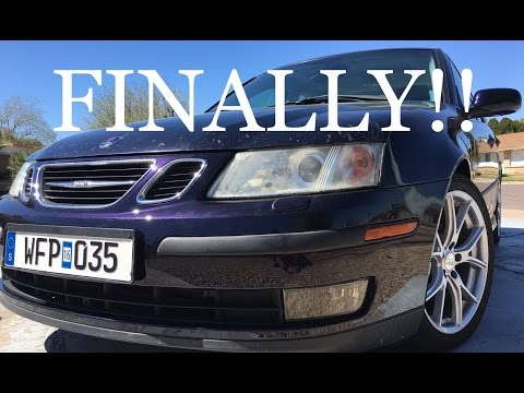 New Front Bumper for the 9-3 + Swedish Plate!