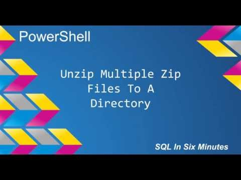 PowerShell: Unzip Multiple Zip Files To A Directory - YouTube