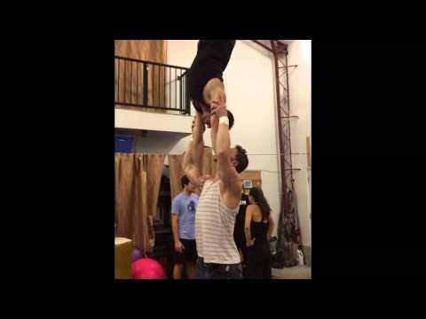 Hands Free Acro Shoulder Balance: Tari and Cheetah