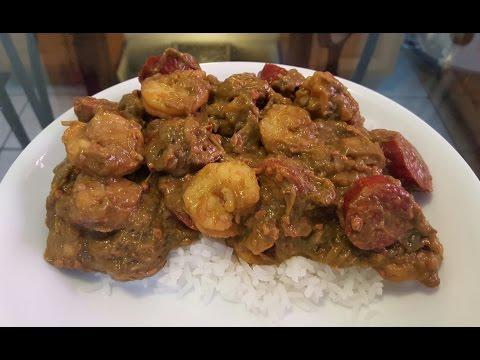 How to make Smothered Okra with Shrimp and Smoked Sausage