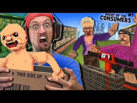 NIGHT of the CONSUMERS! I found a Lost Baby & Got Fired for it! (FGTeeV vs. Scary Shopping Game)