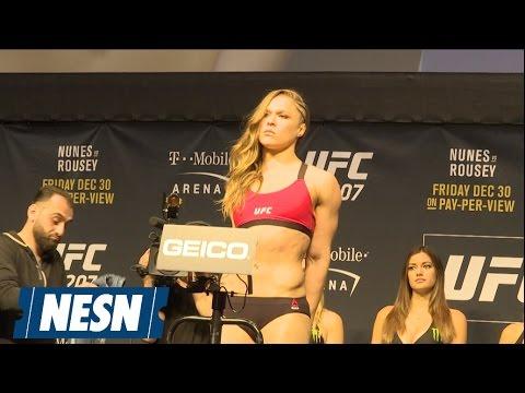 See Ronda Rousey's Wild Staredown With Lion-Masked Amanda Nunes