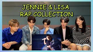 Koreans React To JENNIE  LISA RAP COLLECTION