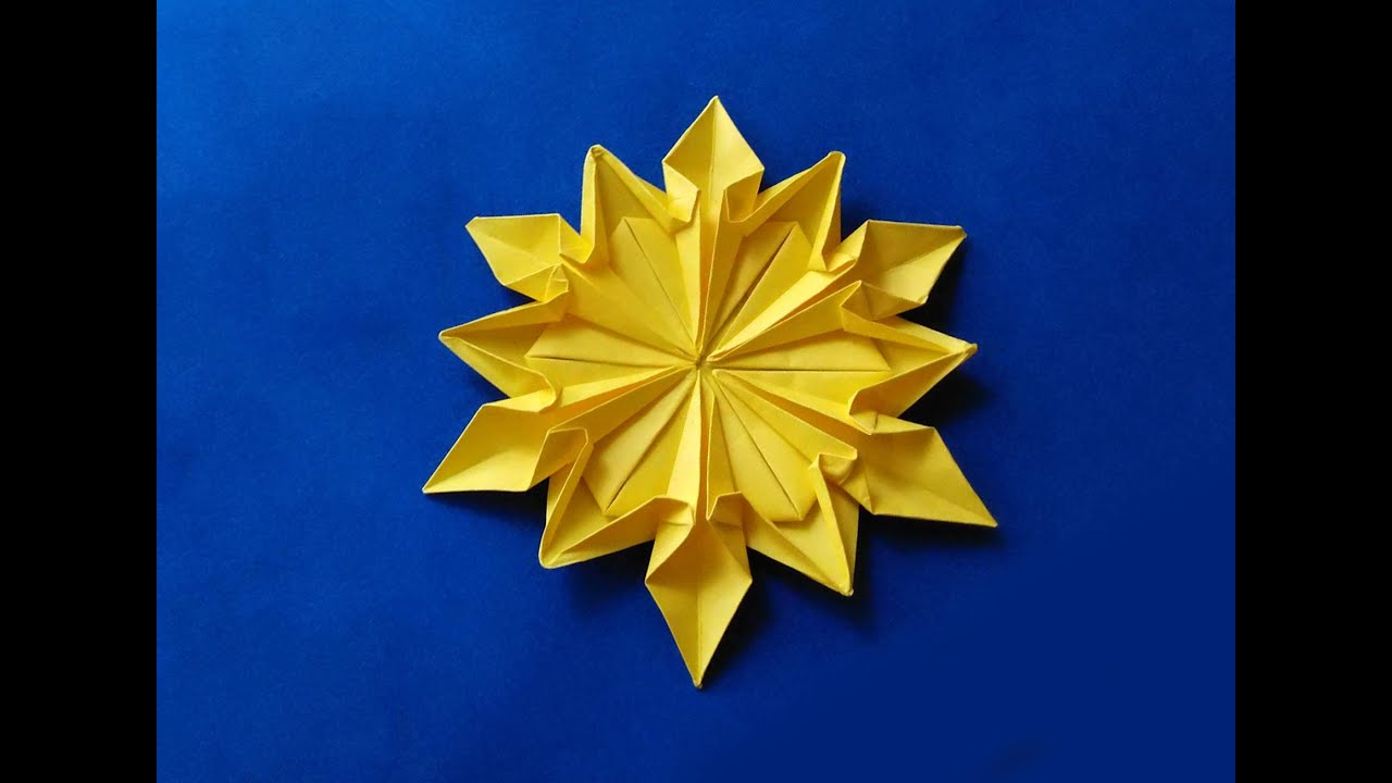 Origami 12 petals flower origami snowflake dennis walker origami 12 petals flower origami snowflake dennis walker christmas decor youtube mightylinksfo