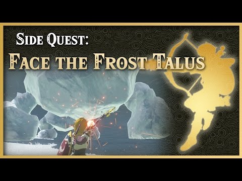 Zelda Breath of the Wild • Face the Frost Talus • Tabantha Side Quest