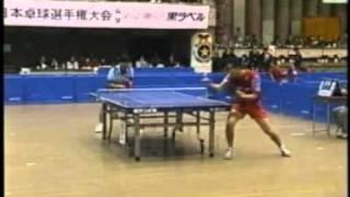 「卓球」遊澤亮 vs. 松下浩二 平成14年度全日本