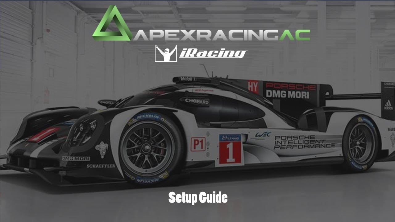 Iracing Porsche 919 Lmp1 Setup Guide Youtube