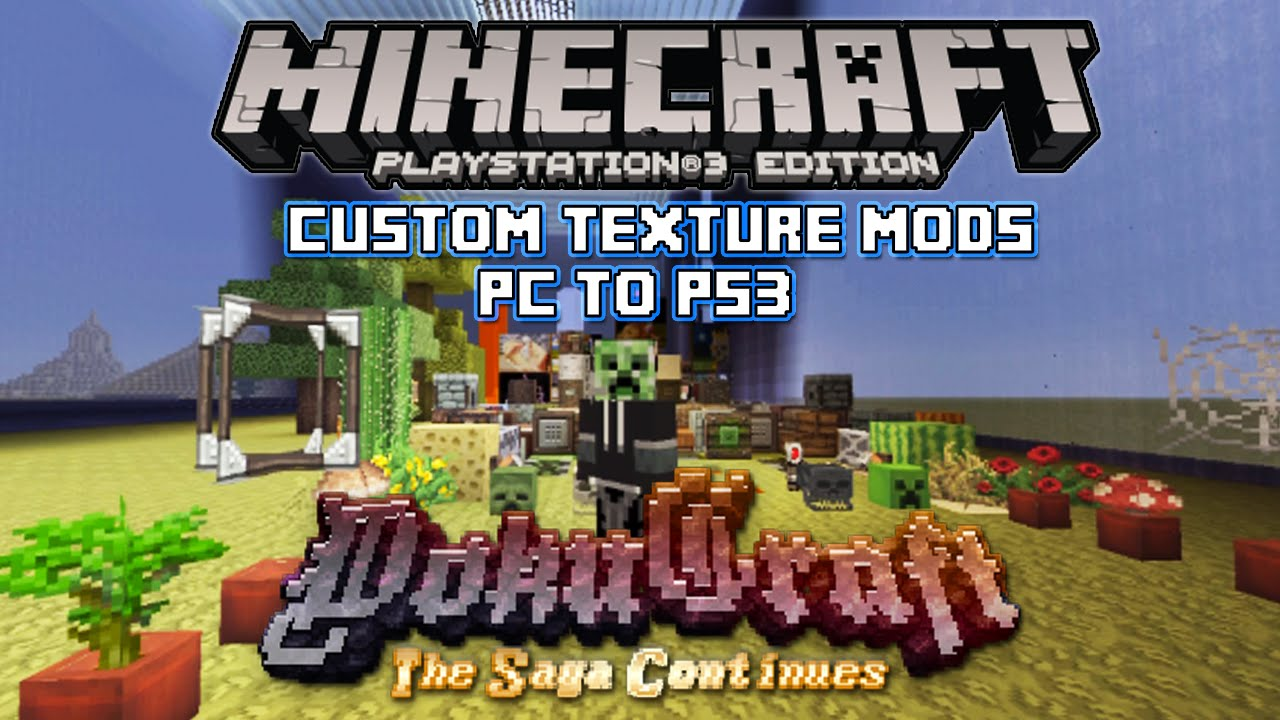 Minecraft Custom Texture Pack Dokucraft! for Playstation 3 Edition CFW Only - YouTube