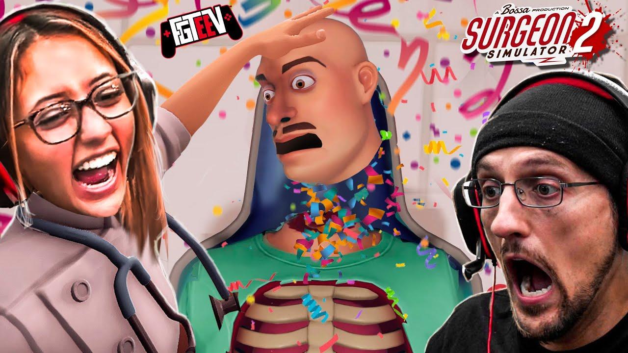 SURGEON SIMULATOR 2:  Lexi vs Bob? You're FIRED!  (FGTeeV Hilarious Co-Op Game)