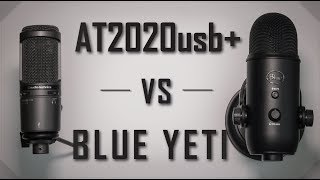 Blue Yeti VS AT2020usb+ Comparison (USB Condenser Microphone Review/Test)