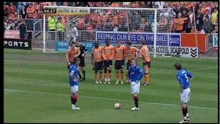 Pedro Mendes scores against Dundee Utd