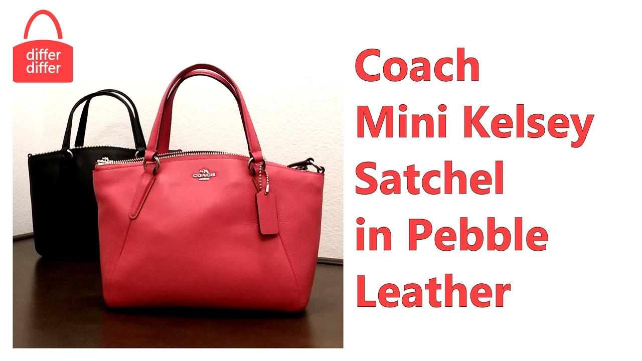 a00561da8d9b Coach Mini Kelsey Satchel in Pebble Leather 57563 - YouTube
