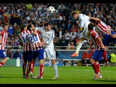 UCL Final Real Madrid vs Atletico Madrid (4-1) Sergio Ramos Goal PL HD - YouTube