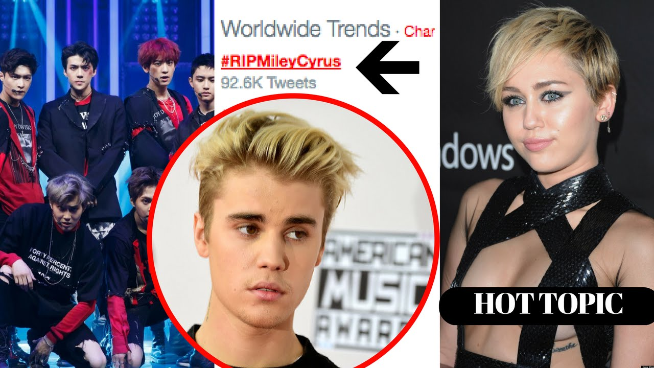 EXO Kpop Fans Drag Miley Cyrus Into Fandom War With Justin
